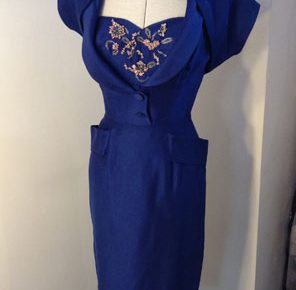 1950s Dress with Matching Bolero
