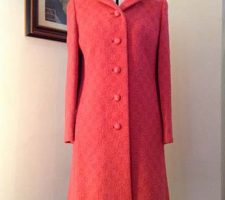 Beautiful 1960s Vintage Pink Boucle Coat
