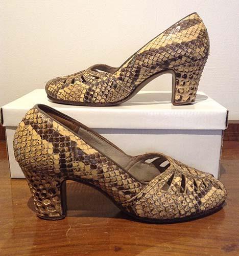 Vintage 1940s Snakeskin Shoes
