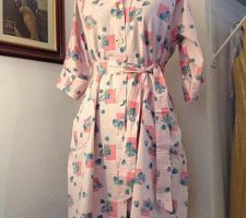 1940s,50s Cotton Print Housecoat