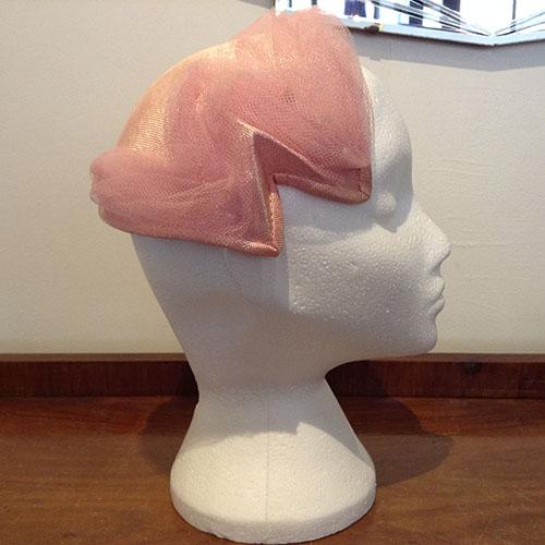 Pretty vintage 1950s pink hat